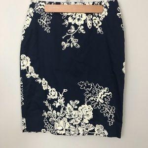 NWOT J. Crew 'The Pencil Skirt' Blue size 2